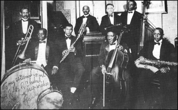 W.C. Handy and his jazz orchestra, 1918