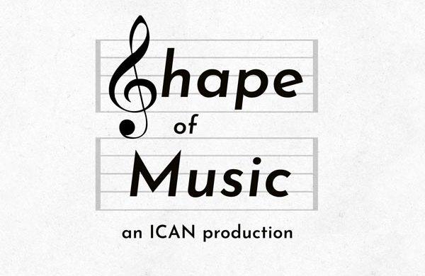 Shape of music logo