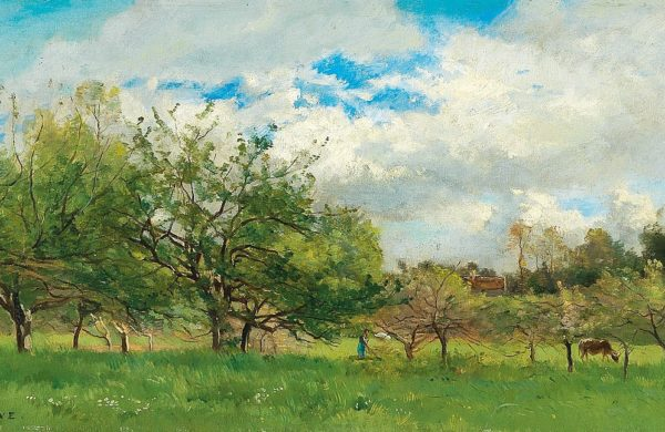 Painting of Field in Summer